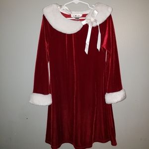 "6X Girls Christmas Holiday Dress ""Santa Look"""